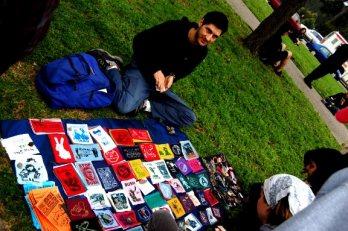Lawn vendor at 2007 Book Fair