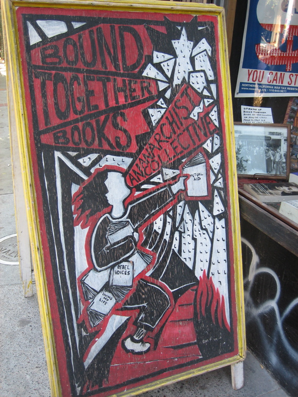 Bound Together Book Store Side Walk Sign