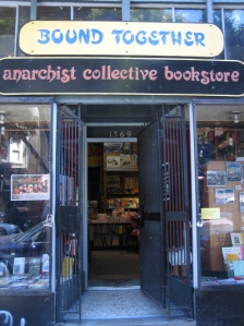 Front of Bound Together Bookstore